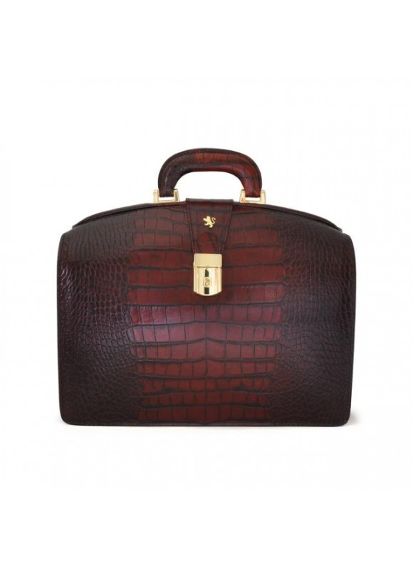 Pratesi Brunelleschi Small King Briefcase in cow leather - King Brown