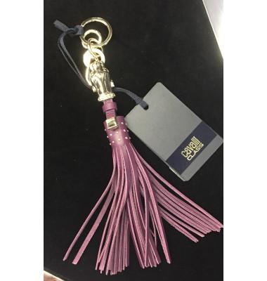 Кожаный брелок Cavalli фиолет
