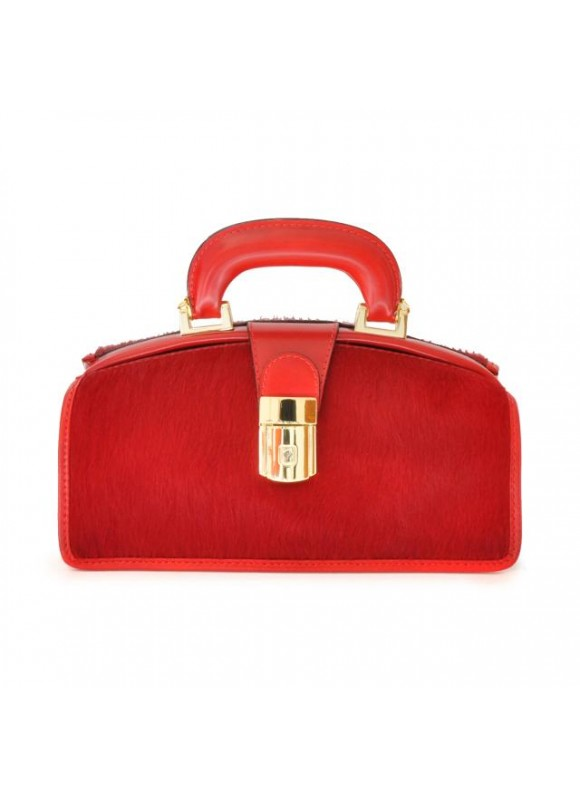 Pratesi Lady Brunelleschi Cavallino Handbag in real leather - Cavallino Cherry