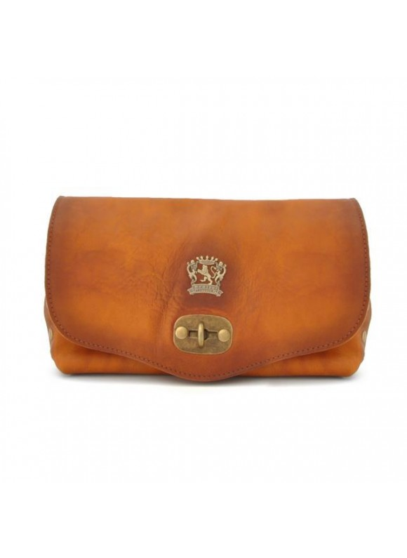 Pratesi Castel Del Piano Clutche in cow leather - Bruce Cognac