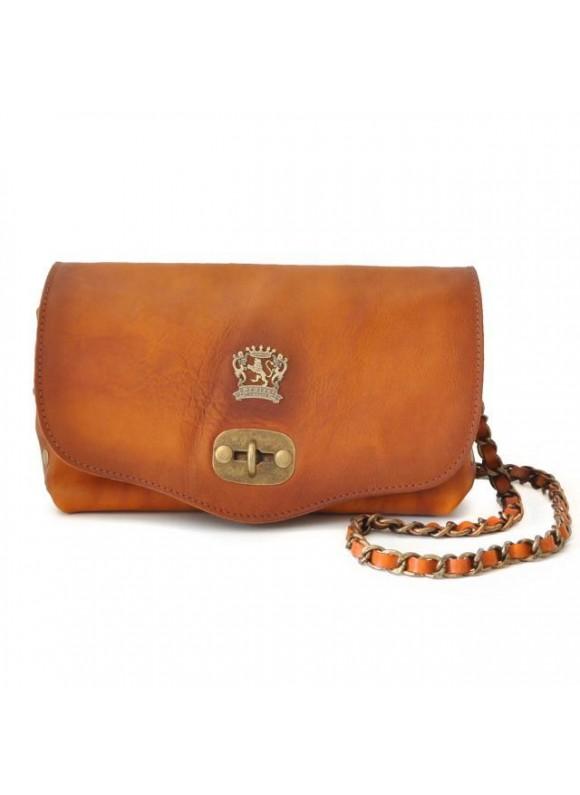 Pratesi Castel Del Piano Clutche in cow leather - Bruce Orange