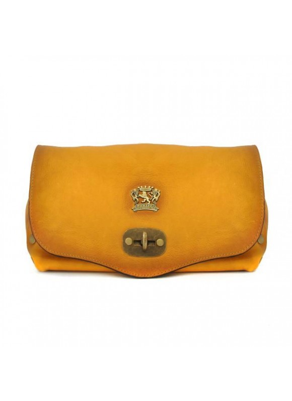 Pratesi Castel Del Piano Clutche in cow leather - Bruce Mustard