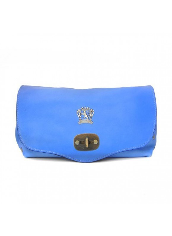 Pratesi Castel Del Piano Clutche in cow leather - Bruce Sky Blue