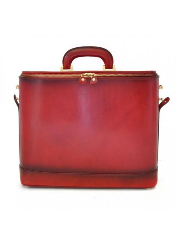 Pratesi Raffaello Santa Croce PC Case 15 pollici in real leather - Santa Croce Cherry