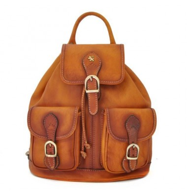 Pratesi Backpack Caporalino in cow leather - Bruce Cognac
