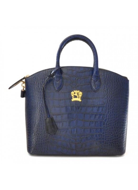 Pratesi Versilia Big King Woman Bag in cow leather - King Blue