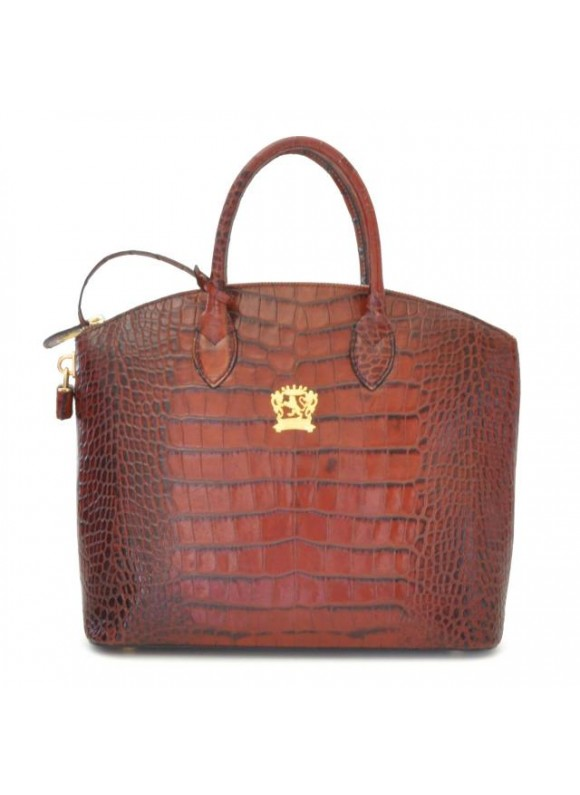 Pratesi Versilia Big King Woman Bag in cow leather - King Brown