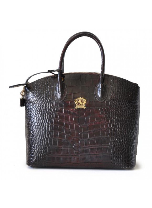 Pratesi Versilia Big King Woman Bag in cow leather - King Dark Brown