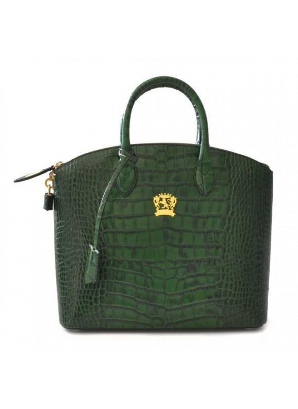 Pratesi Versilia Big King Woman Bag in cow leather - King Green