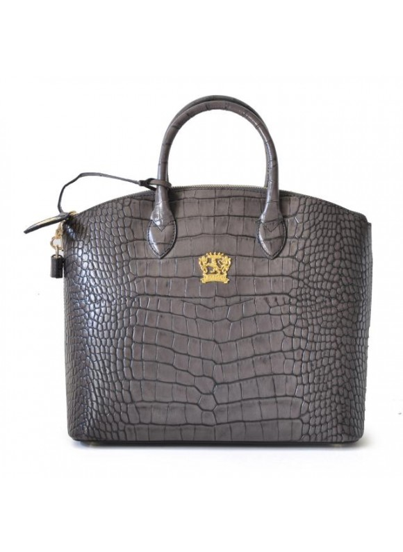 Pratesi Versilia Big King Woman Bag in cow leather - King Grey