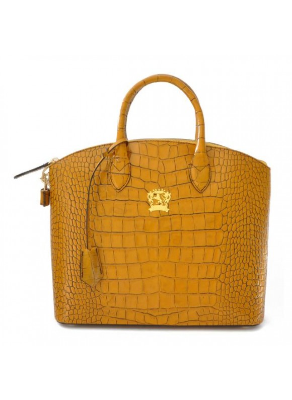 Pratesi Versilia Big King Woman Bag in cow leather - King Mustard