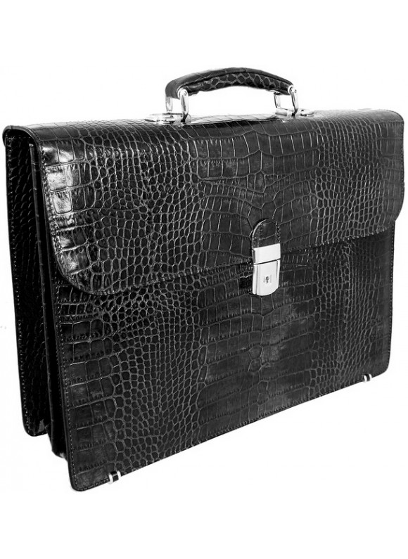Pratesi Donatello King Briefcase in cow leather - King Black