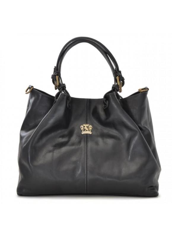 Pratesi Collodi Woman Bag in cow leather - Bruce Black