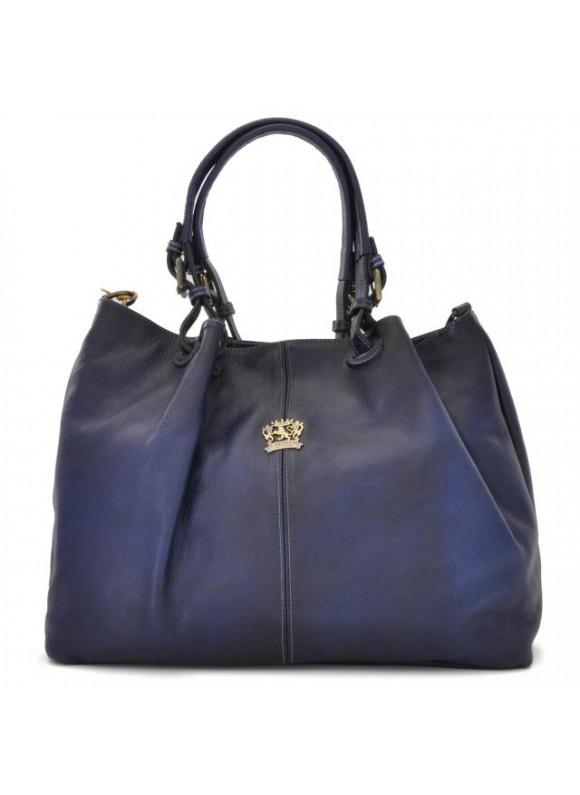 Pratesi Collodi Woman Bag in cow leather - Bruce Blue