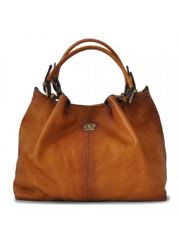 Pratesi Collodi Woman Bag in cow leather - Bruce Cognac