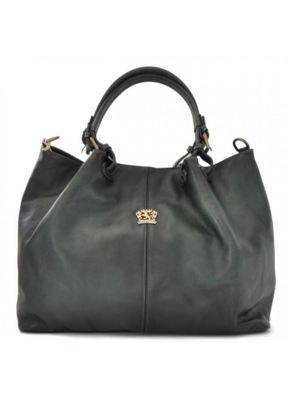 Pratesi Collodi Woman Bag in cow leather - Bruce Dark Green