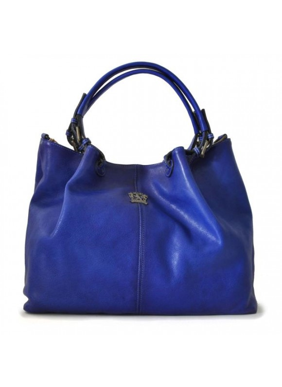 Pratesi Collodi Woman Bag in cow leather - Bruce Electric Blue