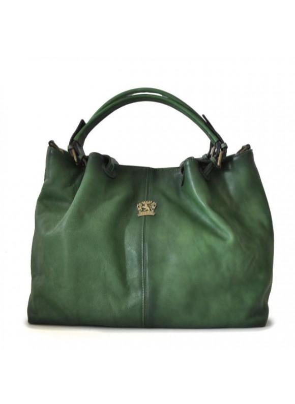 Pratesi Collodi Woman Bag in cow leather - Bruce Emerald