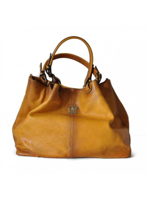 Pratesi Collodi Woman Bag in cow leather - Bruce Mustard