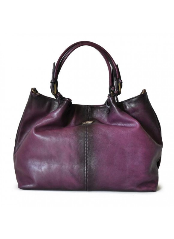 Pratesi Collodi Woman Bag in cow leather - Bruce Violet