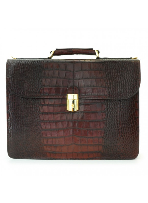 Pratesi Verrocchio King Briefcase - King Brown