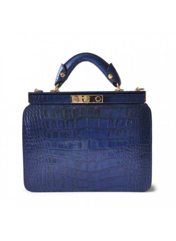 Pratesi Vittoria Colonna King Woman Bag in real leather - King Blue