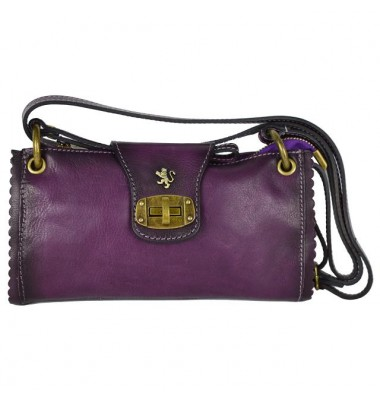 Pratesi Woman Bag Pontremoli in cow leather - Bruce Violet