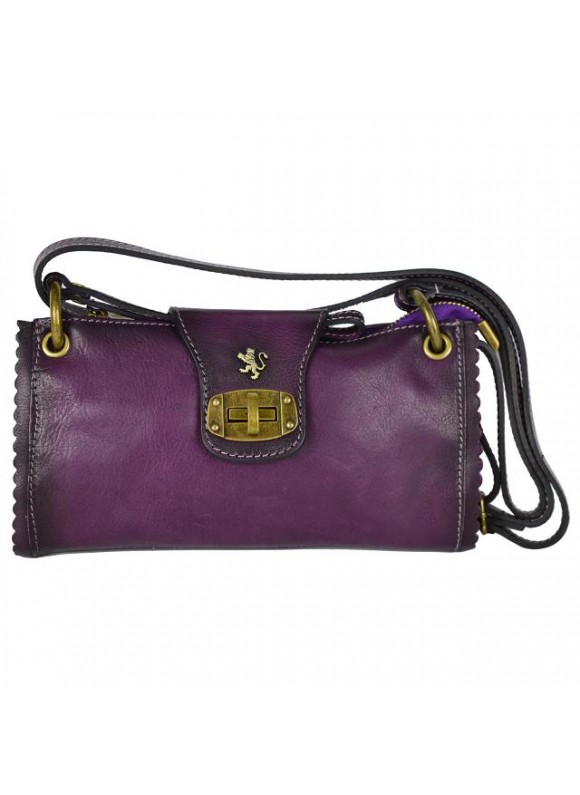 Pratesi Woman Bag Pontremoli in cow leather - Bruce Violet