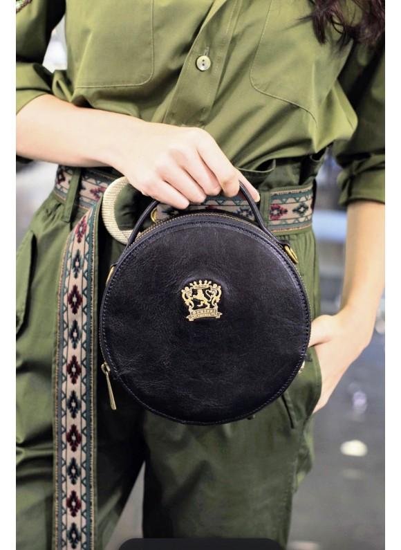 Pratesi Handbag Troghi Bruce in cow leather - Bruce Black