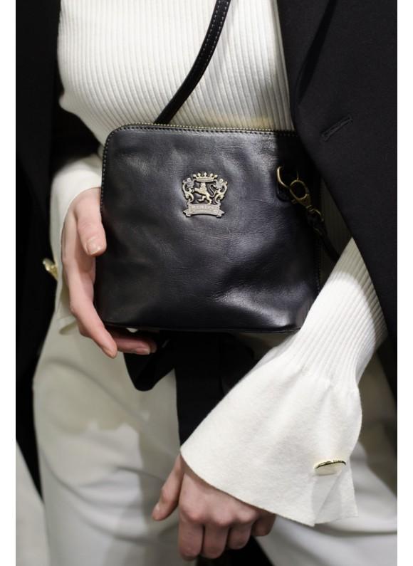 Pratesi Cross-Body Bag Volterra Bruce in cow leather - Bruce Black