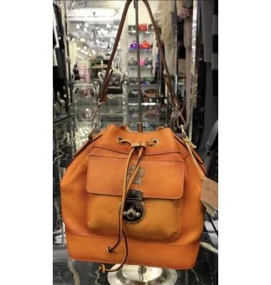 Pratesi Handbag Montaione Bruce in cow leather - Bruce Orange