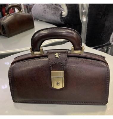 Pratesi Handbag Lady Brunelleschi Bruce in cow leather - Bruce Coffee