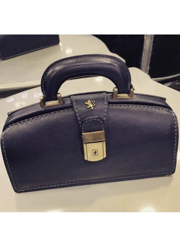 Pratesi Handbag Lady Brunelleschi Bruce in cow leather - Bruce Blue