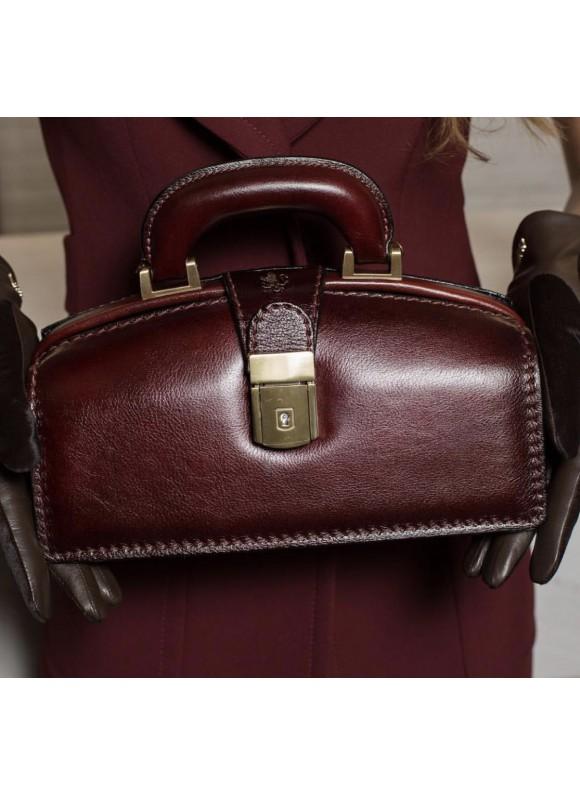 Pratesi Handbag Lady Brunelleschi Bruce in cow leather - Bruce Chianti
