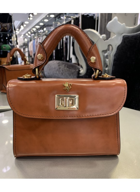Pratesi Lucignano Small Handbag in cow leather - Radica Brown