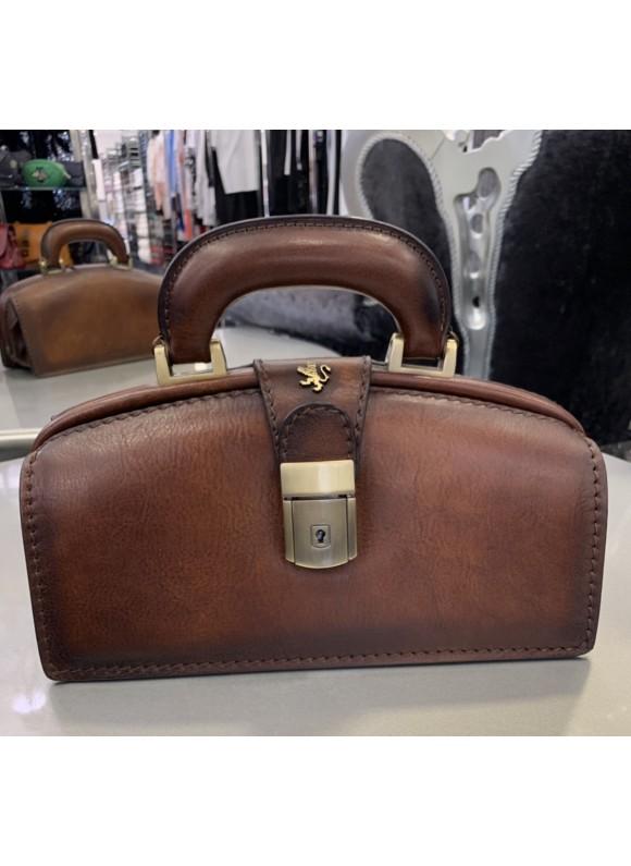 Pratesi Handbag Lady Brunelleschi Bruce in cow leather - Bruce Brown