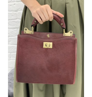 'Pratesi Anna Maria Luisa de'' Medici Small Cavallino Woman Bag in real leather - Cavallino Chianti'