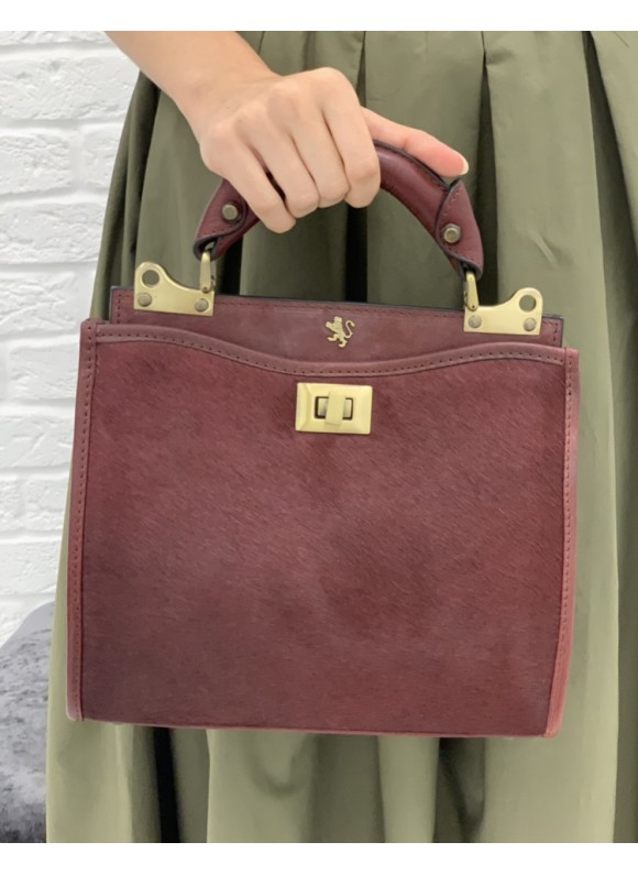 'Pratesi Anna Maria Luisa de'' Medici Small Cavallino Woman Bag in real leather - Cavallino Chianti'