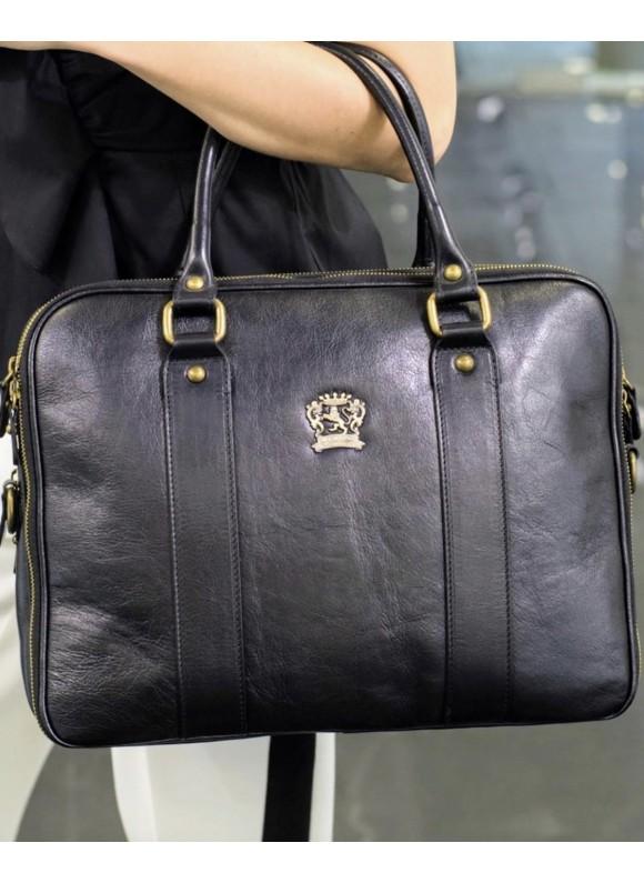 Pratesi Briefcase Magliano in cow leather - Bruce Black