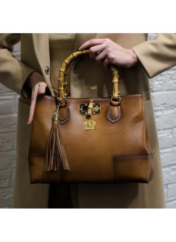 Pratesi Sarteano Shoulder Bag in cow leather - Bruce Brown