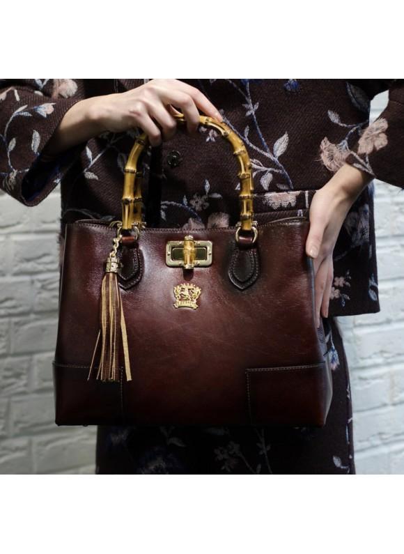 Pratesi Sarteano Shoulder Bag in cow leather - Radica Chianti