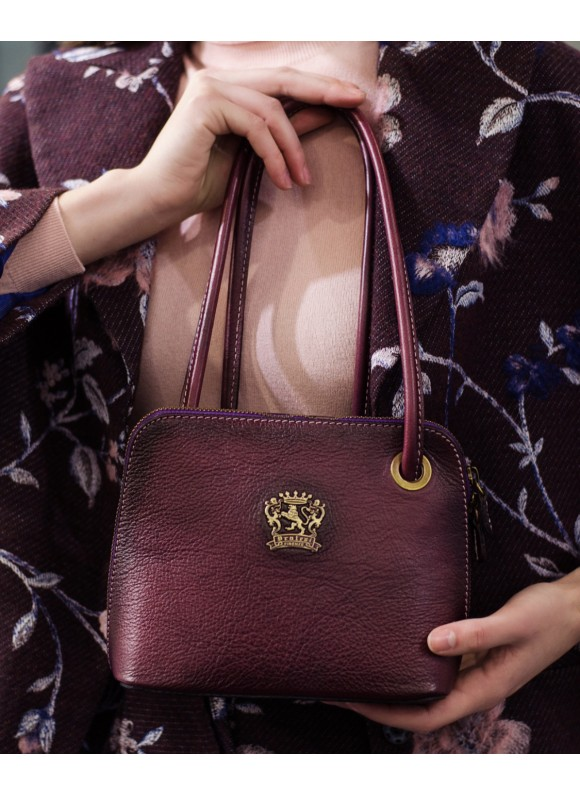 Pratesi Roccastrada Woman Bag in cow leather - Bruce Violet
