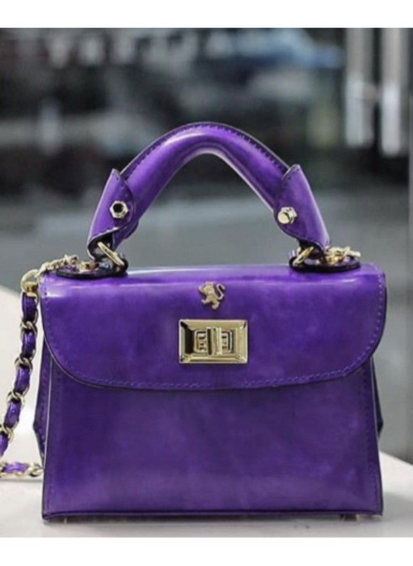 Pratesi Lucignano Small Handbag in cow leather - Radica Violet