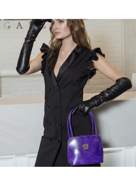 Pratesi Roccastrada Woman Bag in cow leather - Radica violet