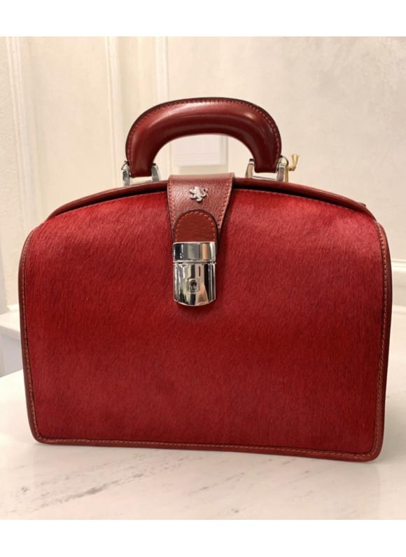 Pratesi Miss Brunelleschi Cavallino Lady Bag in real leather - Cavallino Cherry