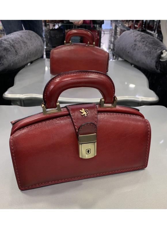 Pratesi Handbag Lady Brunelleschi Bruce in cow leather - Bruce Cherry