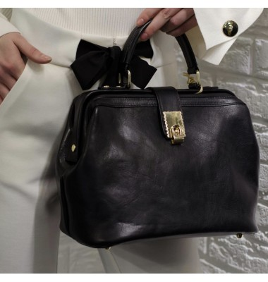 Pratesi Certaldo Bag in cow leather - Bruce Black