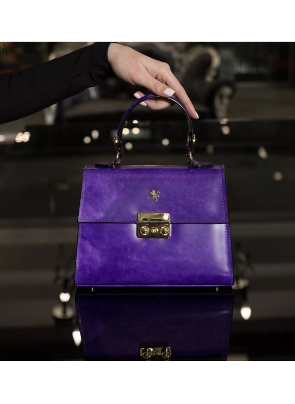 Pratesi Artemisia Lady Bag in cow leather - Radica Violet