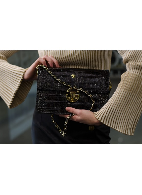 'Pratesi Lucrezia De'' Medici King Cross-Body Bag in cow leather - King Black'