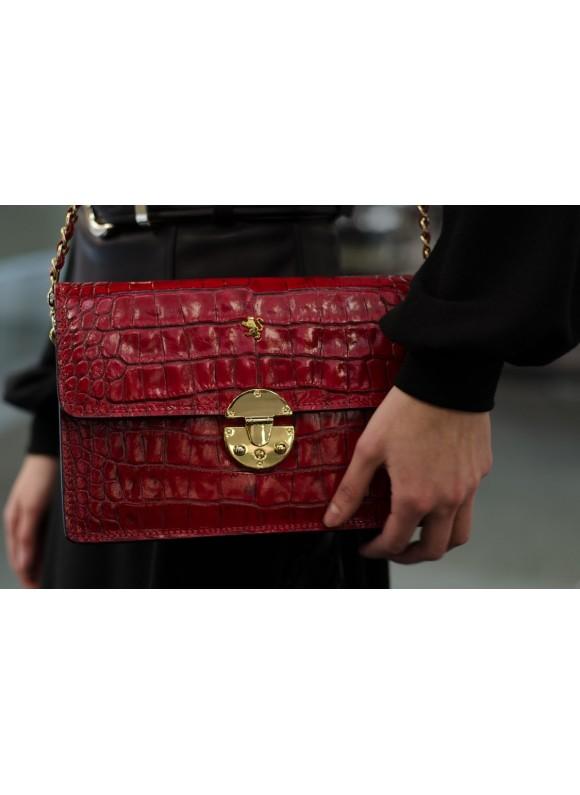 'Pratesi Lucrezia De'' Medici King Cross-Body Bag in cow leather - King Cherry'